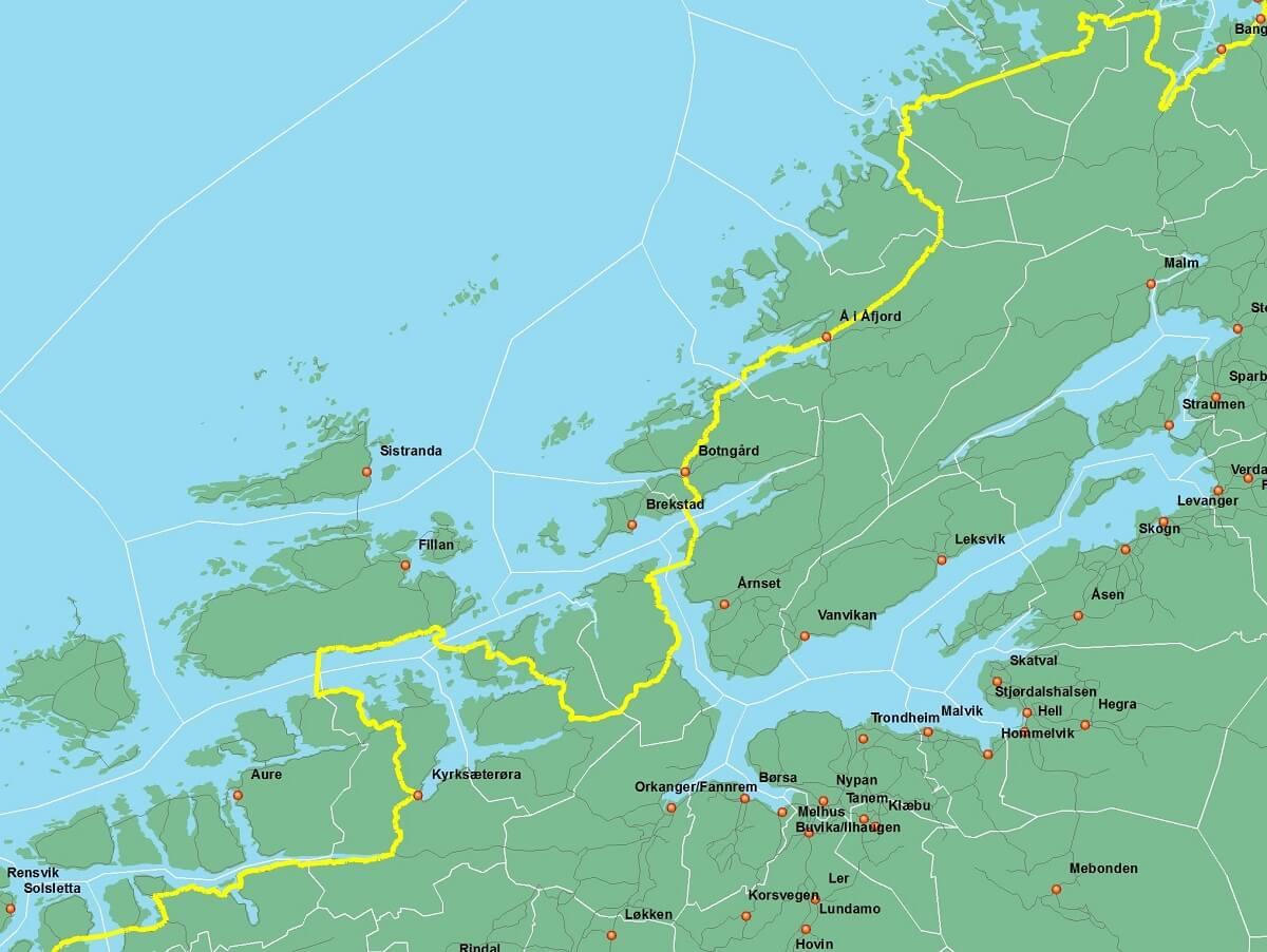 Kystriksveien i Vest-Trøndelag